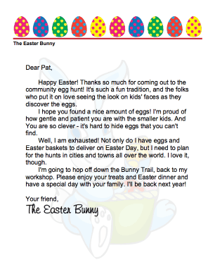 printable easter bunny letters