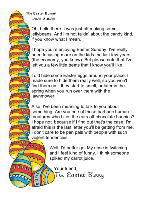 Funny Easter Bunny Letters