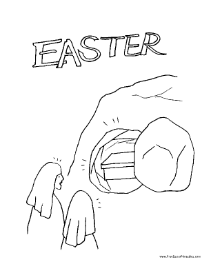 free empty tomb coloring pages | Fashion Pure: coloring pages for easter christian