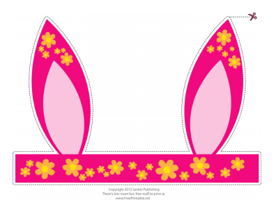 easter bunny ears template - photo #44