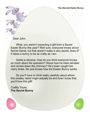 letter to easter bunny template - printable secret easter bunny letter