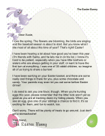 Letter from The Easter Bunny to Child With Siblings
